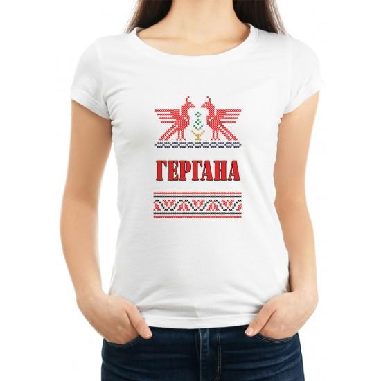 ДАМСКА ТЕНИСКА ЗА ГЕРГЬОВДЕН МОДЕЛ 4, Plovdiv Print Design