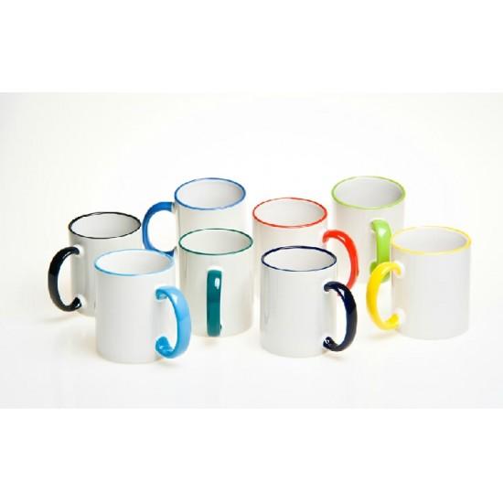 Печат на Чаша с цветен кант и дръжка със снимкаPlovdiv Print Design