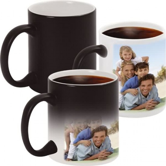 Печат на Черна магическа чаша със снимкаPlovdiv Print Design