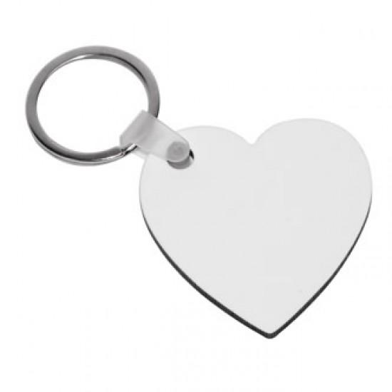 Ключодържател сърце със снимка - корк