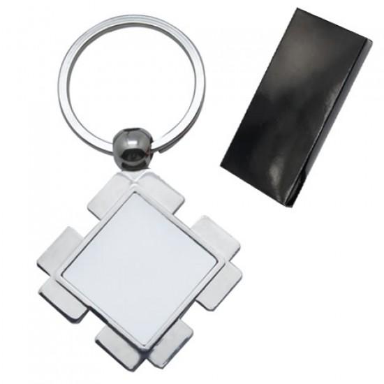 Метален ключодържател със снимка